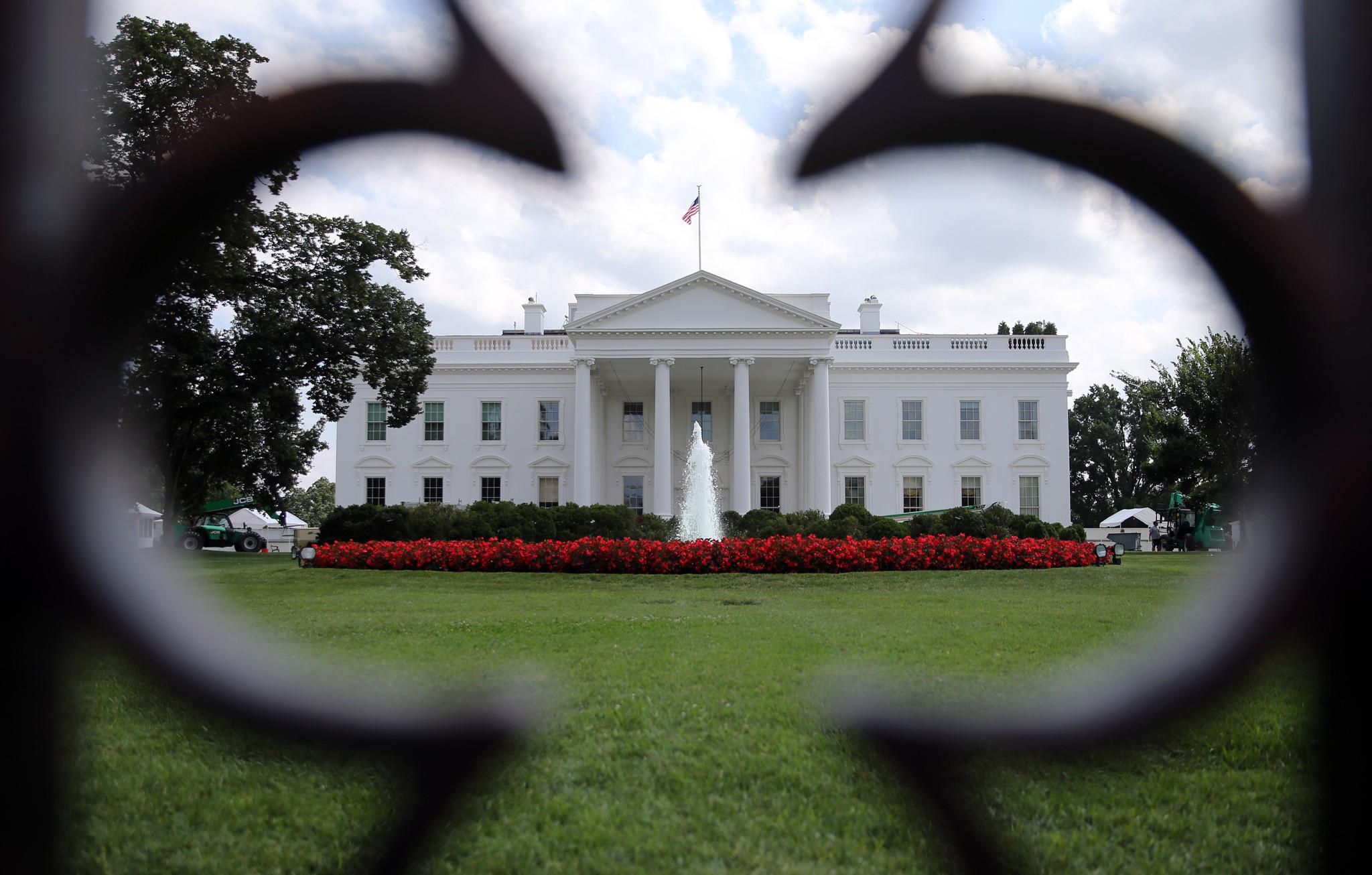 The north side of the White House pictured on Aug. 13, 2013.