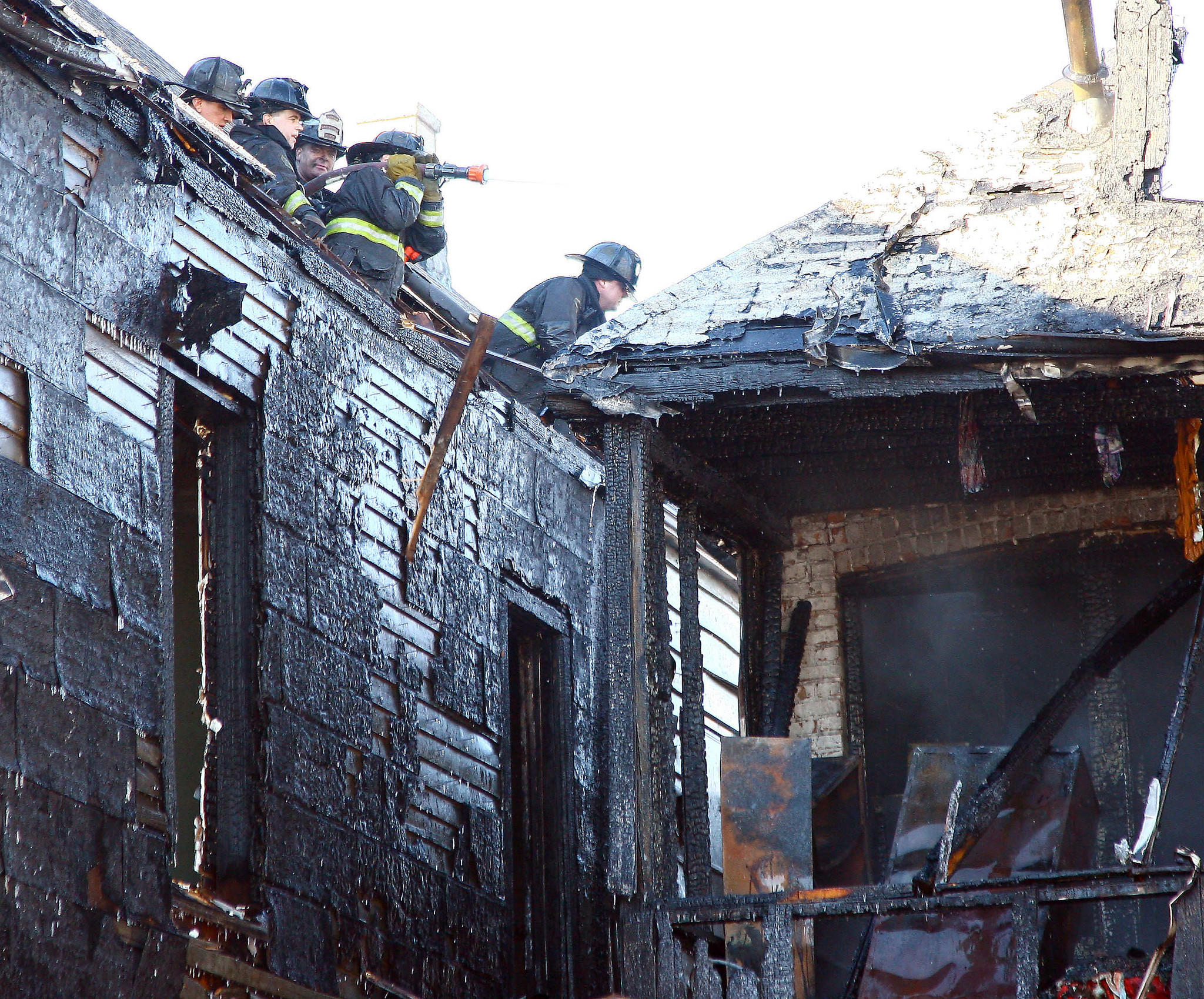 Chicago fire dept battle an extra alarm fire at 2521 w. 45th Place.