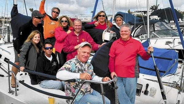 The Crew of The J 109 Linstar after completing last weekend's Sunkist Series.