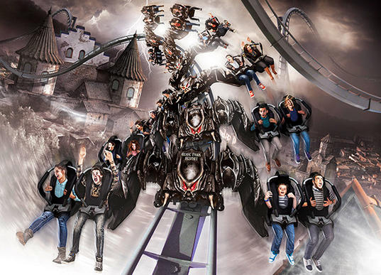 Heide Park's new Flight of the Demon winged coaster will be known as Flug der Damonen in German.