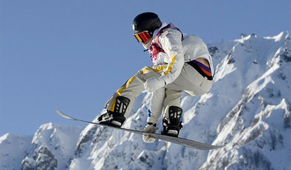 Sweden's Niklas Mattsson competes in the men's Snowboard Slopestyle qualifications Thursday at the Rosa Khutor Extreme Park during the 2014 Sochi Winter Olympics.