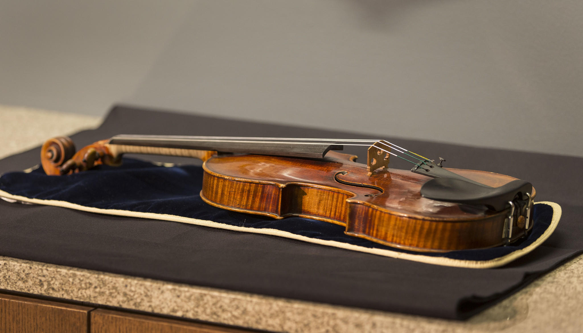 A 300-year-old Stradivarius violin.