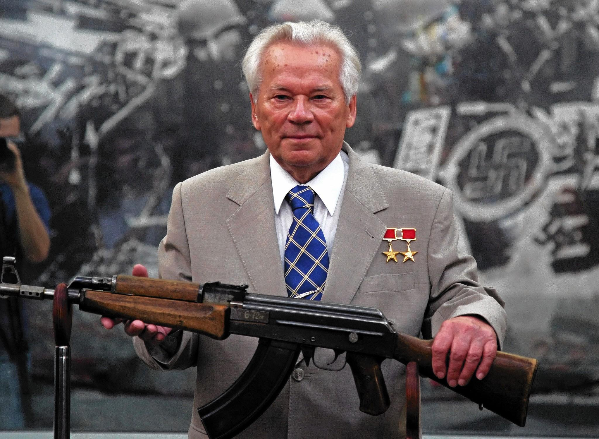 Legendary Russian gun-maker Mikhail Kalashnikov, shown in 2007. His last name is well-known to Americans as the name for a famous rifle.