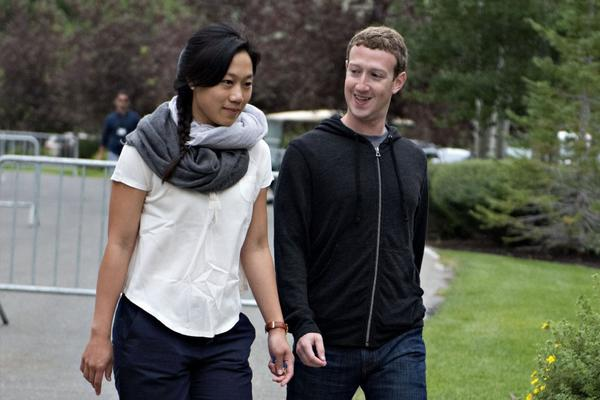 Priscilla Chan and Mark Zuckerberg top list of most generous Americans