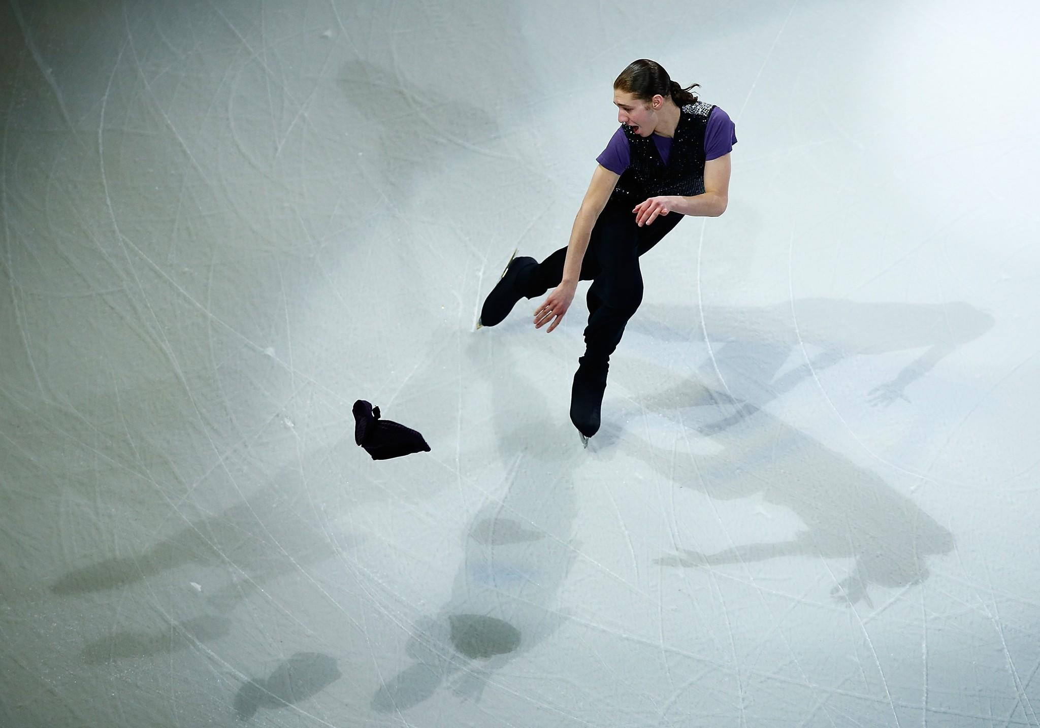 Jason Brown performs during the Smucker's Skating Spectacular following the Prudential U.S. Figure Skating Championships at TD Garden on January 12, 2014 in Boston, Massachusetts.