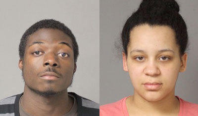 Ashley Thomas (right), 21, and Tennese Koffa (left), 22, both of Severn, were charged with two counts of felony theft.