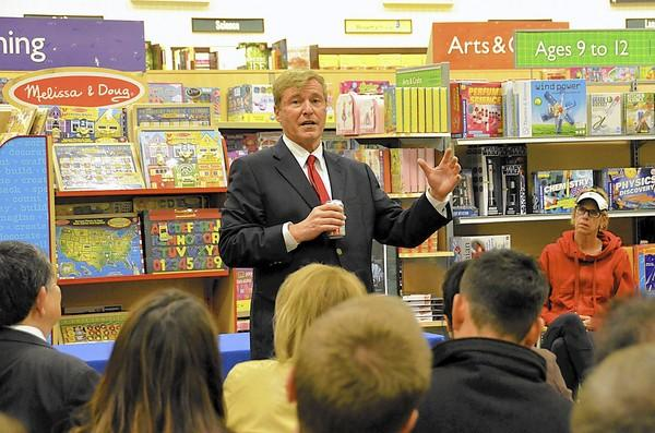 "Leigh Steinberg, sports agent and author, signed copies of his news book ""The Agent,"" at the Barnes & Noble in Fashion Island on Thursday."