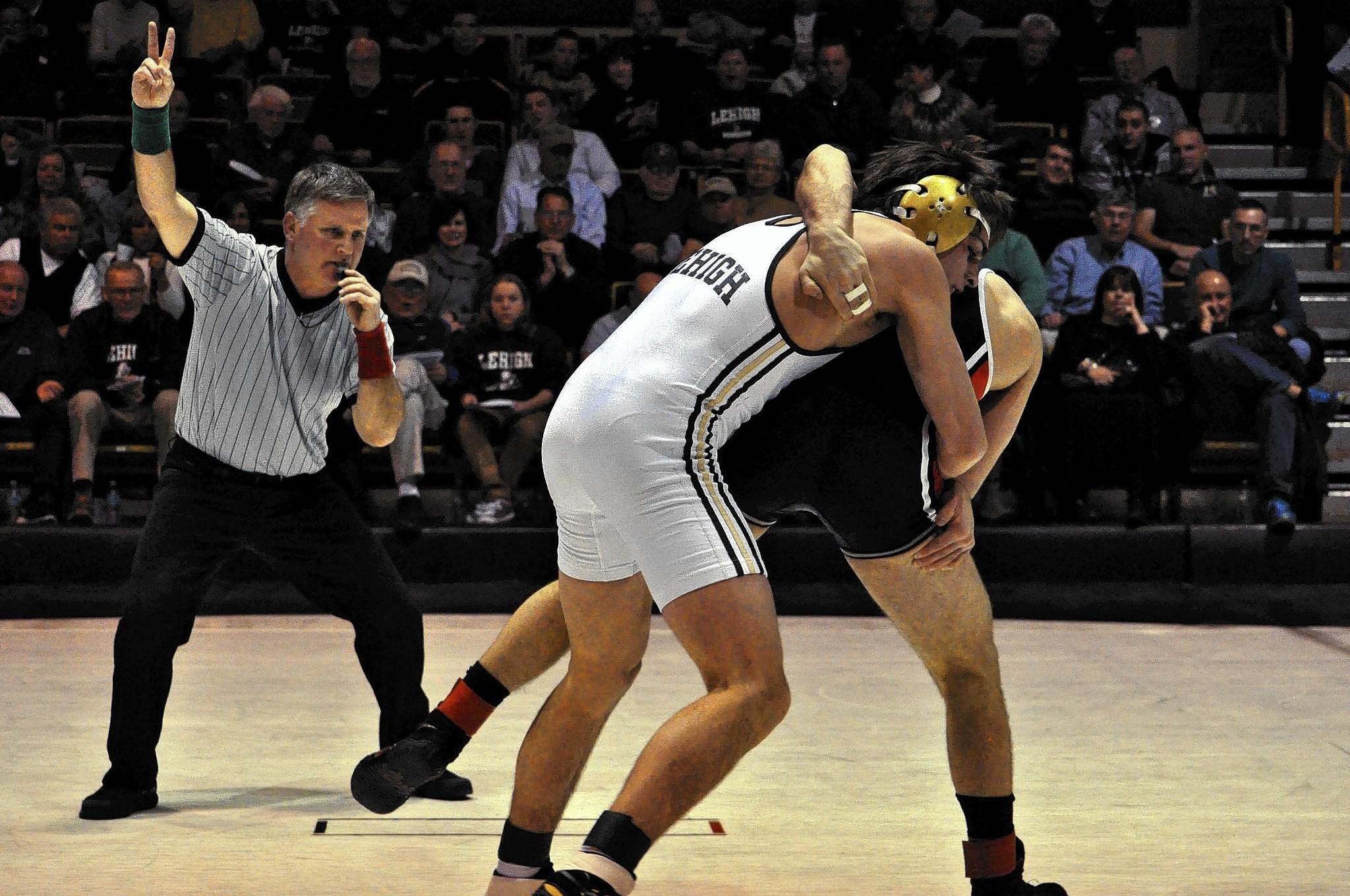 Lehigh's Ben Haas (left) wrestles Rutgers Saturday, February 8, 2014 at Grace Hall in Bethlehem. /(Ed. Note: SPORTS - JUSTIN LAFLEUR / LEHIGH UNIVERSITY ATHLETICS - Shot 02/08/14)