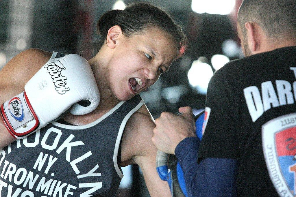 Glendale Fighting Club's Shayna Baszler will take on Sarah Kaufman at the TUF Nations finale on April 16 at the Pepsi Coliseum in Quebec City. (Tim Berger/File Photo)