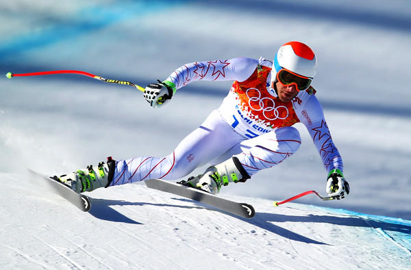 Bode Miller has been one of the fastest skiers during men's downhill training this week at Rosa Khutor Alpine Center.
