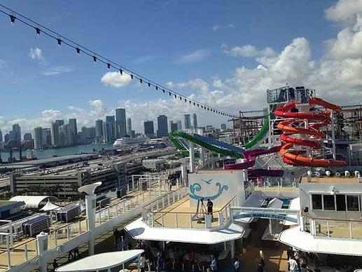 Norwegian Cruise Line debuts the Norwegian Getaway in Miami on Friday, Feb. 7, 2014, where it begins year-round Caribbean service.