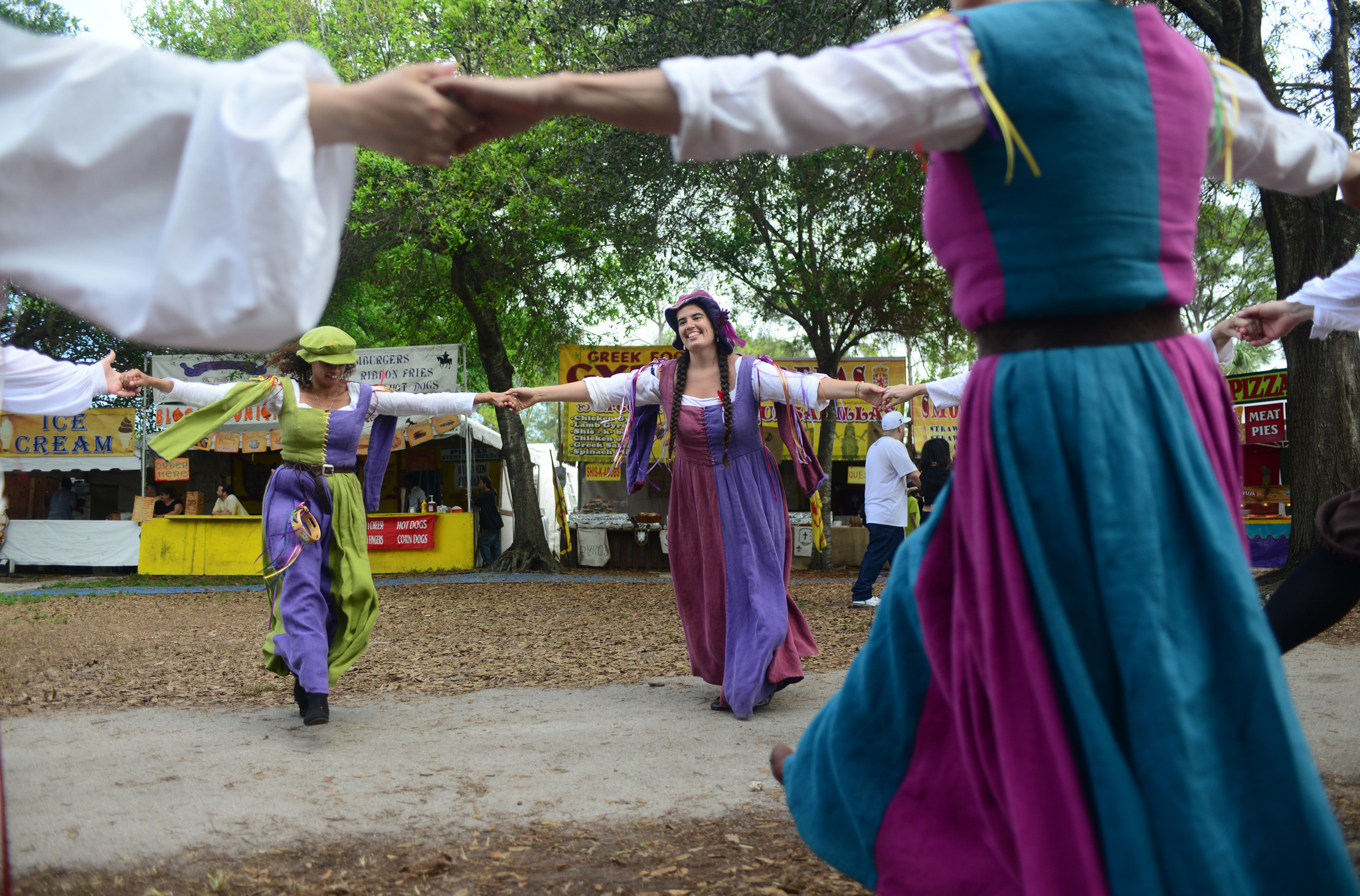 Renaissance Festival photos - Revelers Round