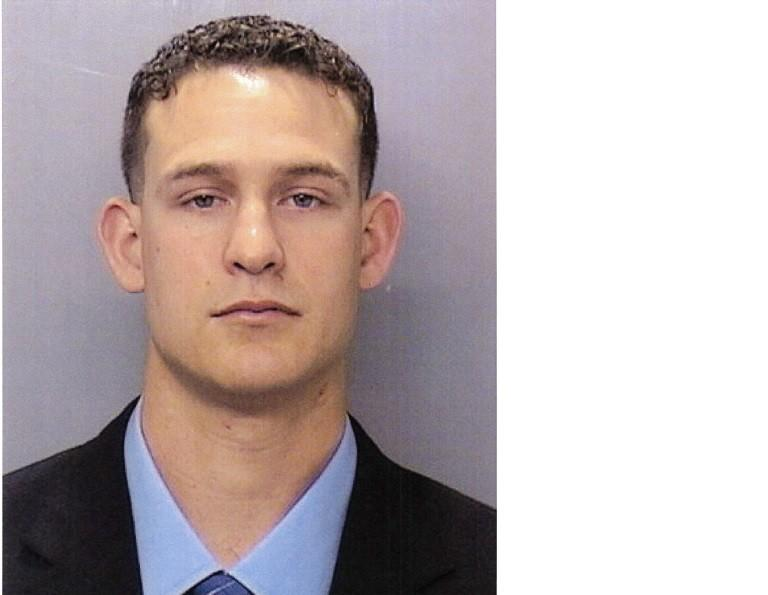 San Diego police Officer Christopher Hays was arrested Sunday on suspicion of assaulting women while on duty. He is being held in lieu $130,000 bail.