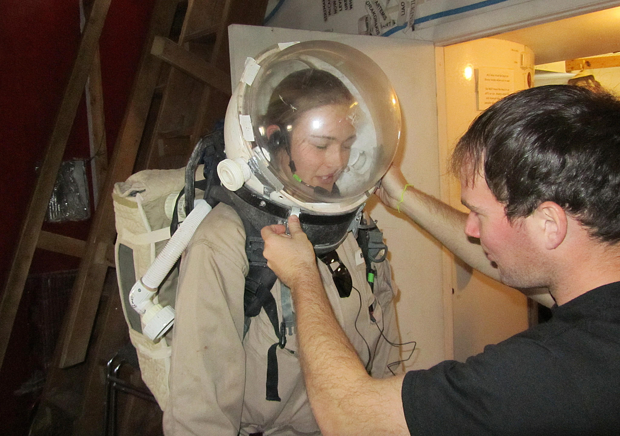 Virginia Beach native Lt. Heidi Beemer training at the Mars Desert Research Station in Utah in 2010.