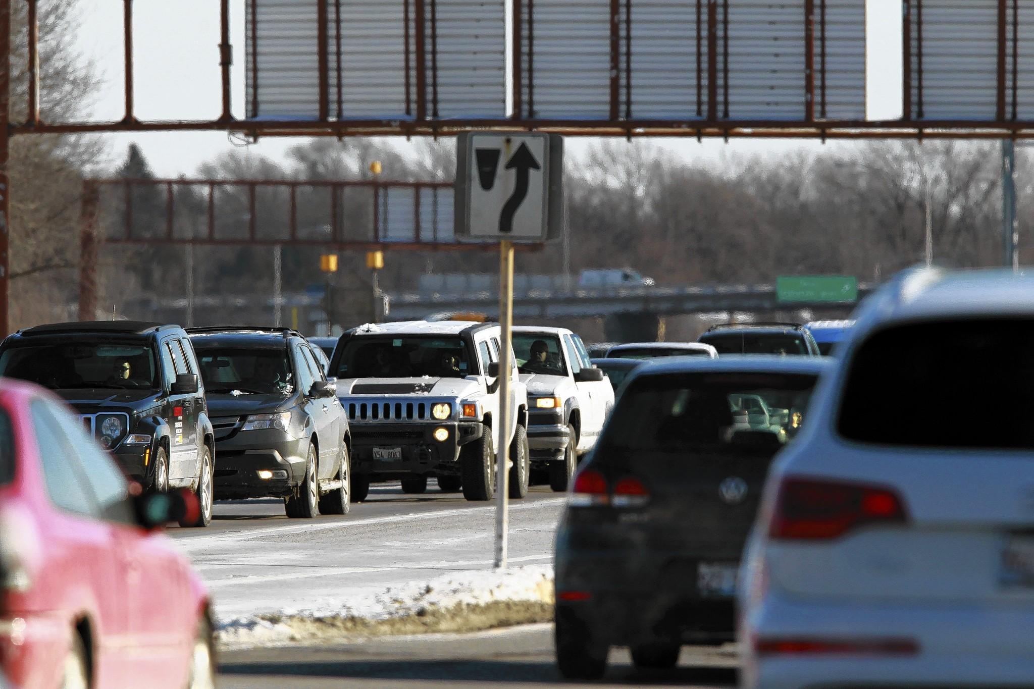 Traffic moves slowly north on U.S. Highway 41 at Park Avenue West this month. Traffic technology will be added to the roadway in a $45 million project.