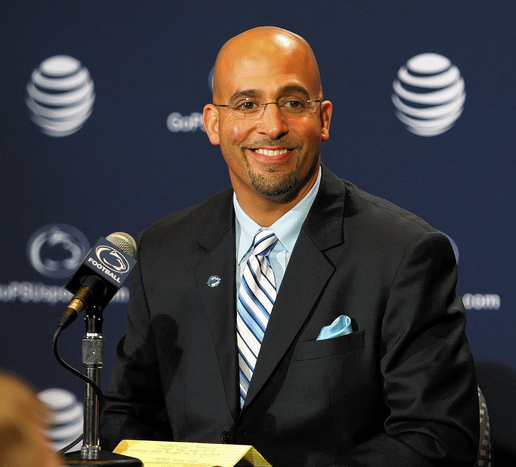 Penn State football coach James Franklin will be appearing at the Nike Coach of the Year Clinic at the Holiday Inn Conference Center in Fogelsville on Feb. 28.