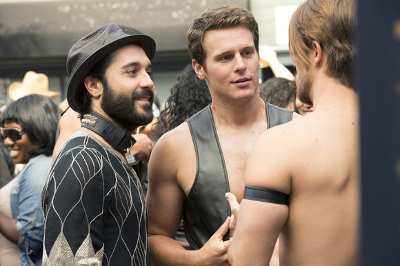 Frankie Alvarez and Jonathan Groff go leather in Episode 4.
