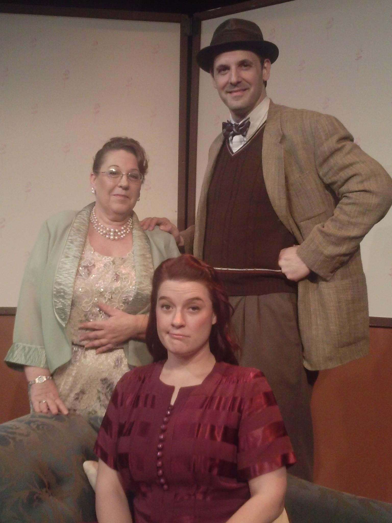 """Jac LeDoux (from left), Julie Snyder and William Hagaman star in """"Harvey."""""""