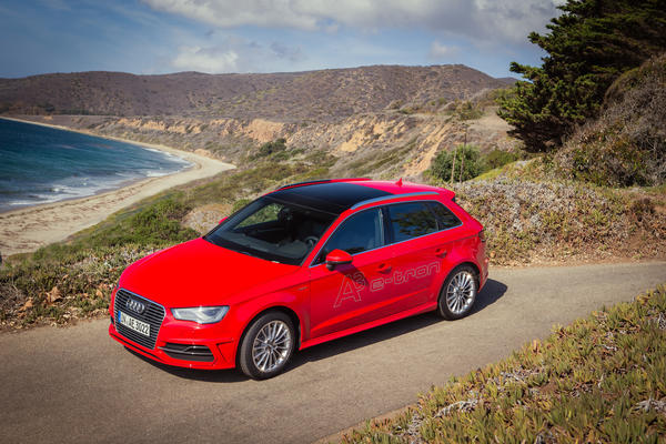 The Audi A3 etron plug-in hybrid will go on sale in early 2015.