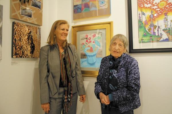 LeeAnn Yater with her mom, 95-year-old Jane Yater, at the Huntington Beach Art Center.