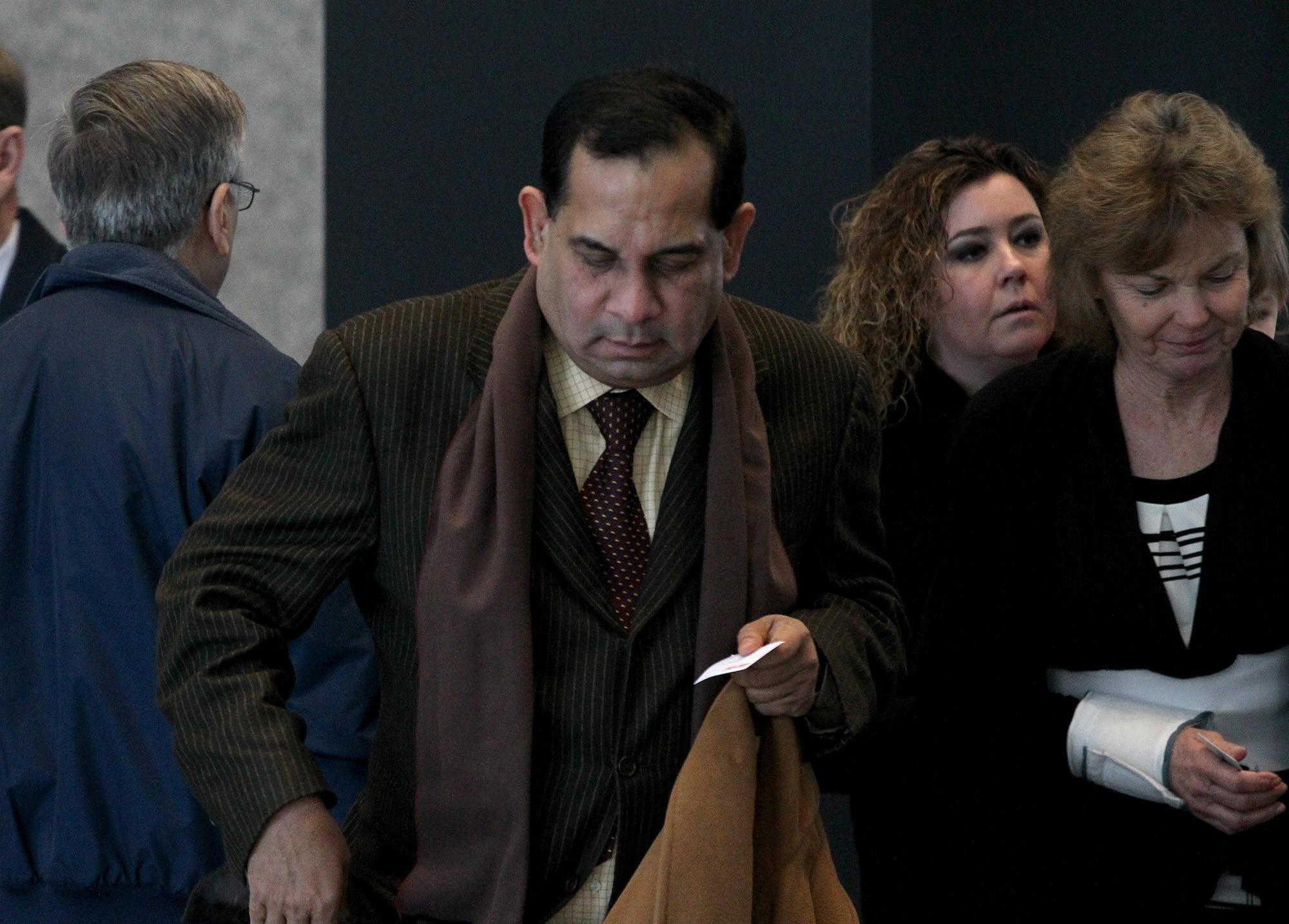 Raghuveer Nayak, former fundraiser for former congressman Jesse Jackson Jr. walks into the Dirksen U.S. Courthouse in Chicago on Monday for his sentencing hearing.