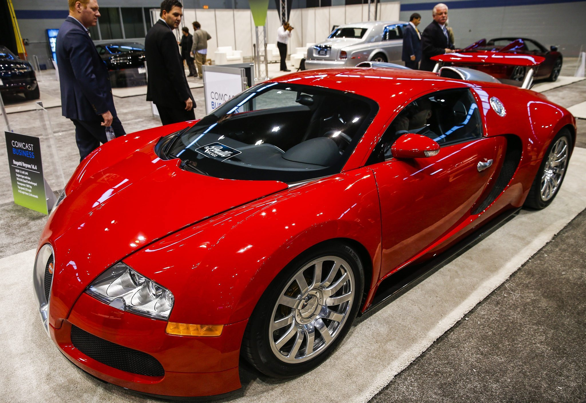 Most ridiculous car at the 2014 Chicago Auto Show? Bugatti Veyron