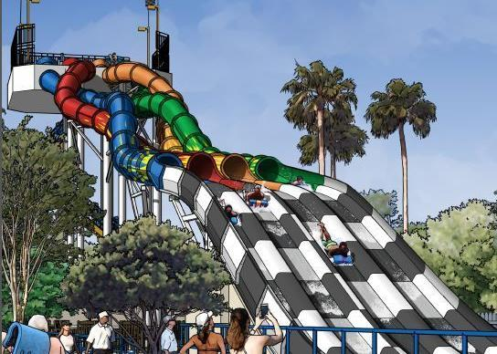 Wet 'n Wild, a water park on International Drive in Orlando, will add the Aqua Drag Racer slide. It is expected to open summer 2014.