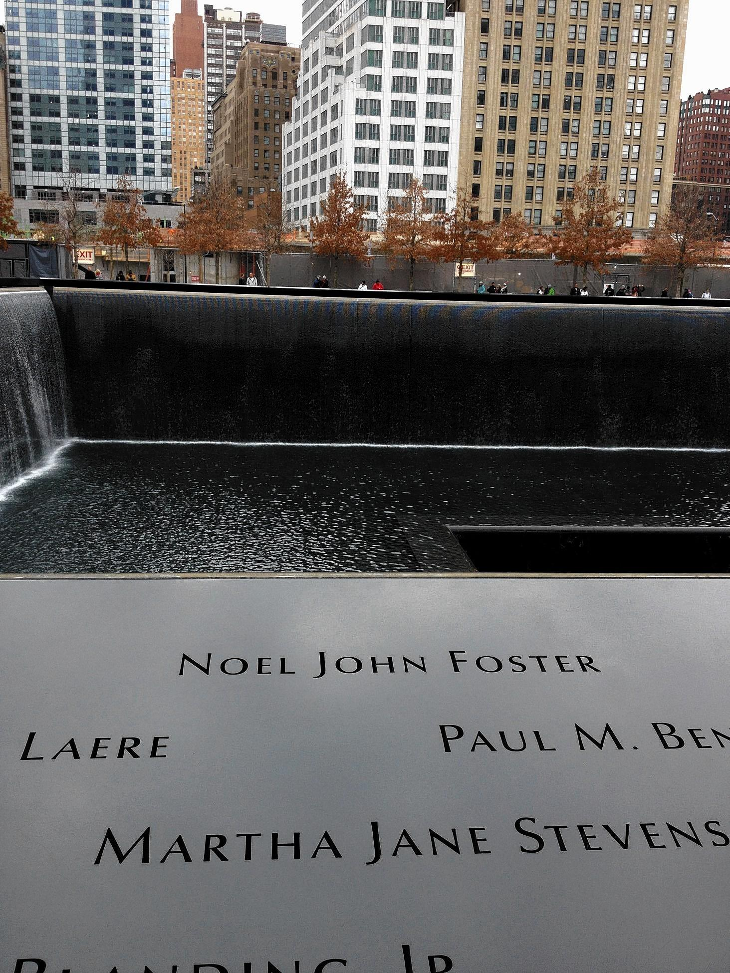 The name of Noel John Foster, a Moravian College graduate who was killed in the terrorist attack in New York City on 9/11, appears on the memorial at ground zero.
