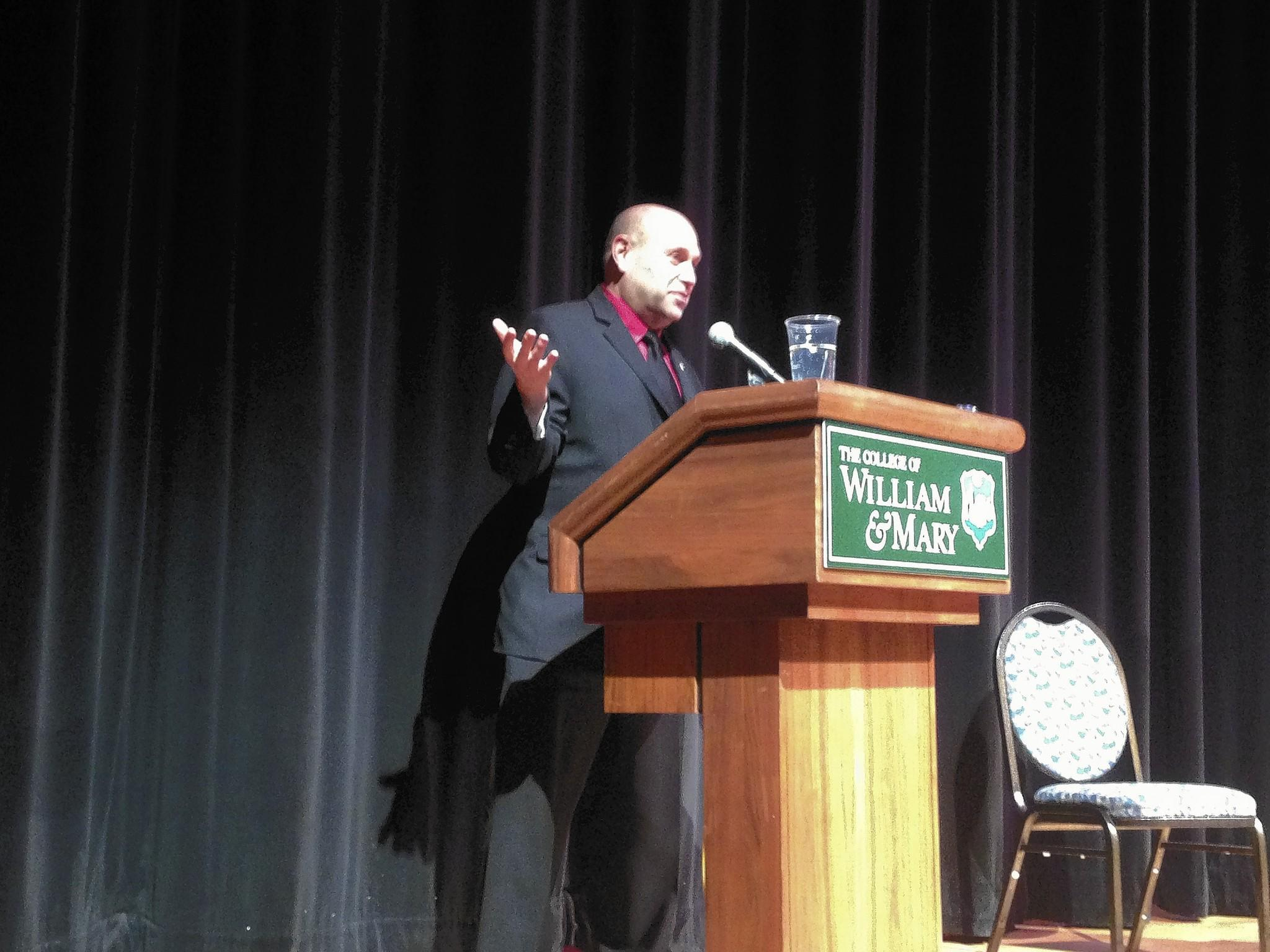 Speaking at William and Mary, Mikey Weinstein rails against religious intolerance in the military