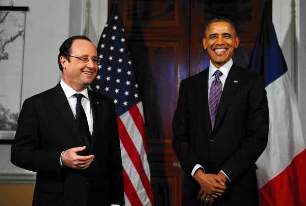 France's Francois Hollande and President Obama
