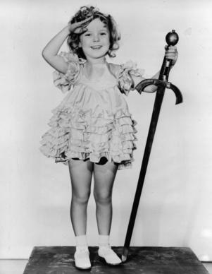 "Shirley Temple in ""Little Miss Marker."""