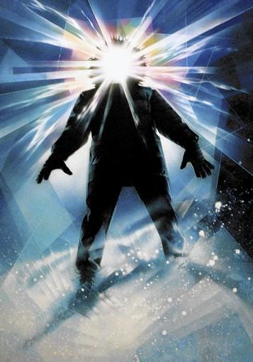 "A movie poster from ""The Thing"" by artist Drew Struzan is on display at an exhibit at the Forest Lawn Museum in Glendale."