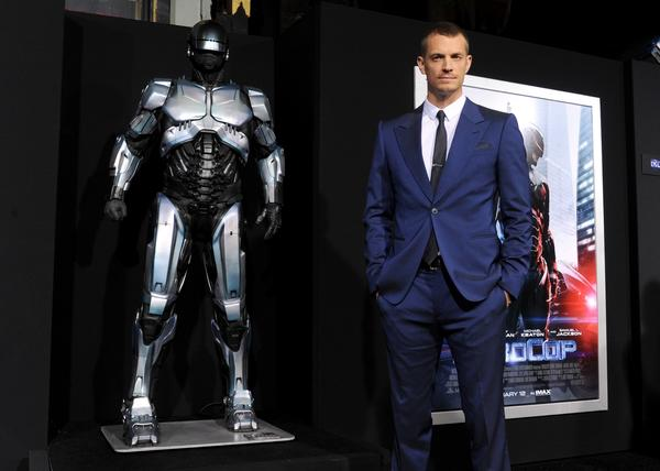 "Joel Kinnaman at the premiere of ""Robocop"""
