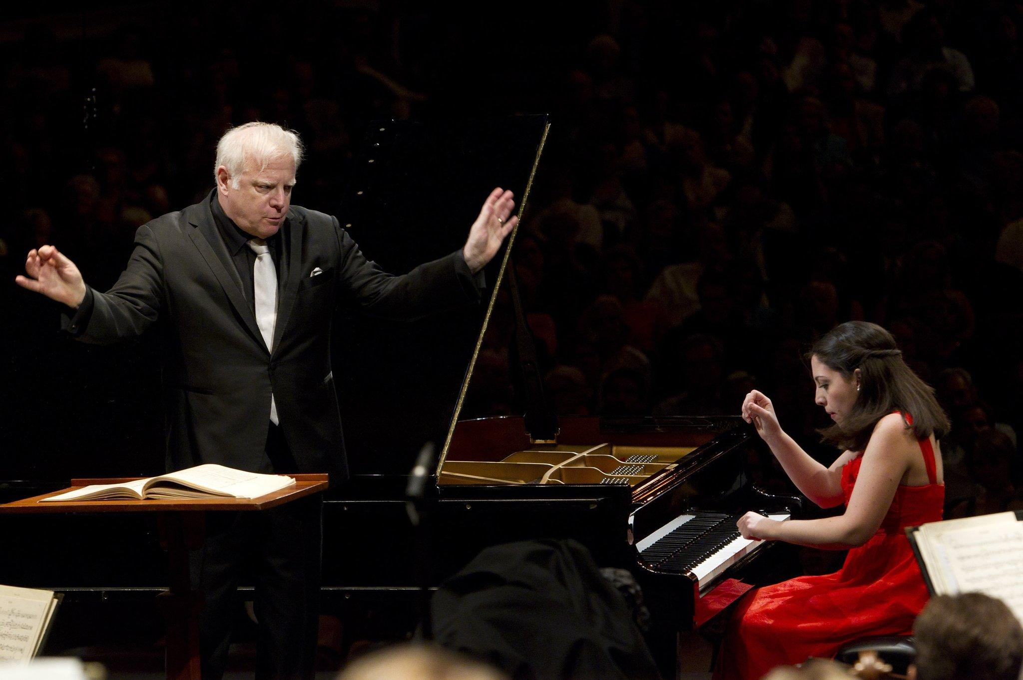 Conductor Leonard Slatkin (left) will return to the Grant Park Music Festival in July.