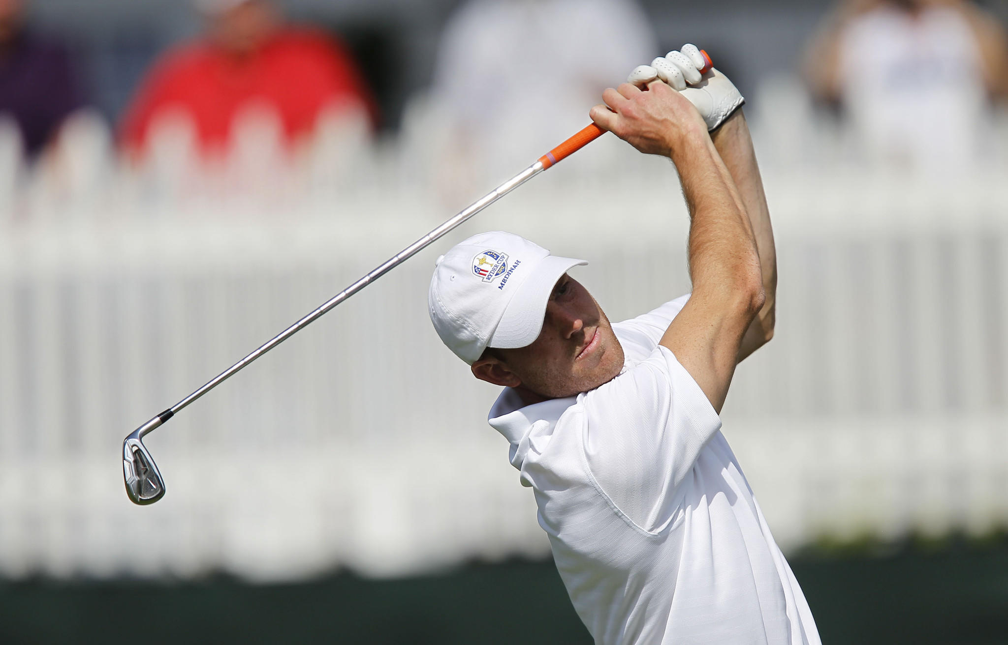 Chicago Bears punter Robbie Gould teeing off at a celebrity golf event in 2012.