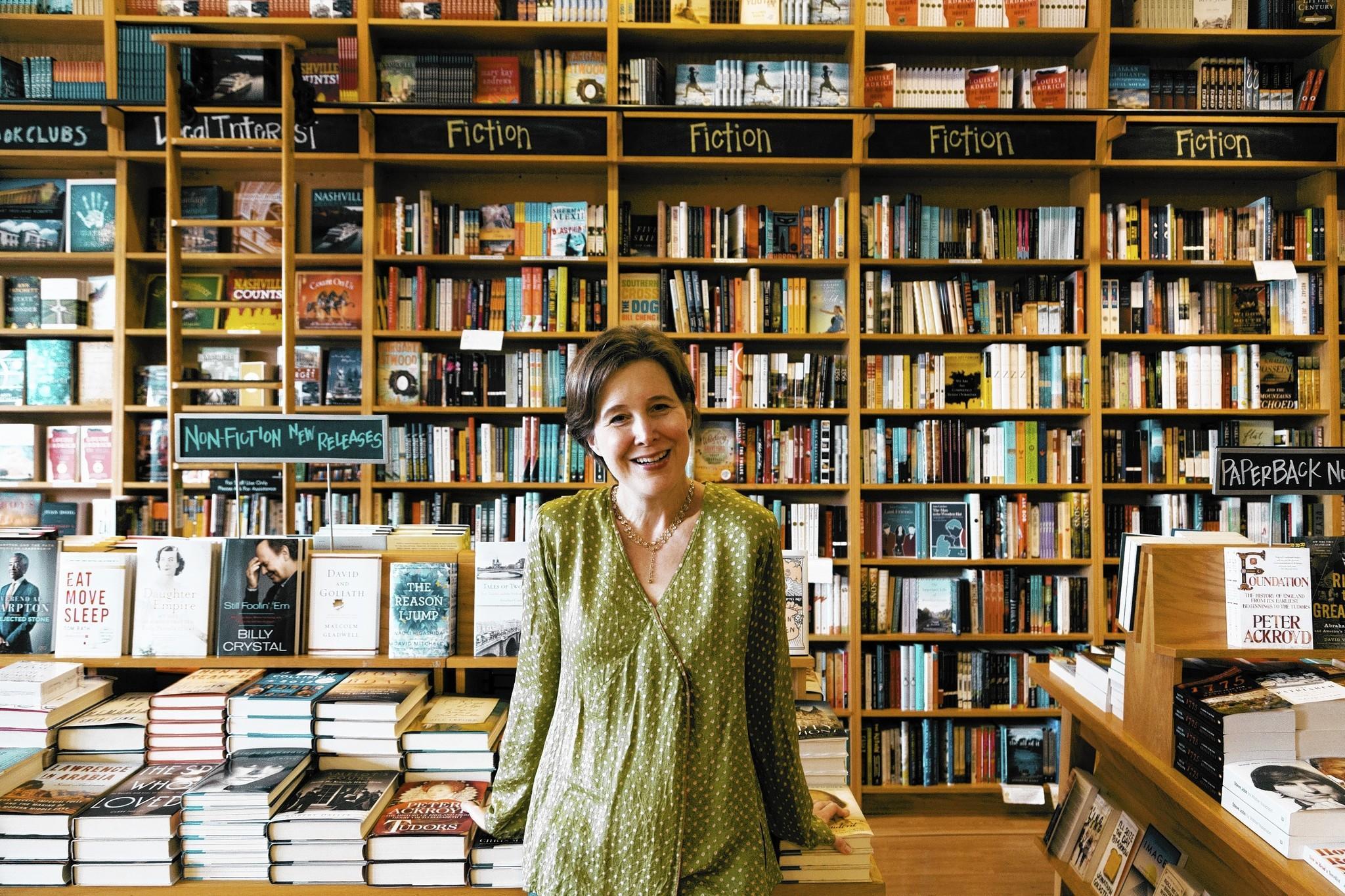 Ann Patchett at her Parnassus Books store in Nashville, Tenn.