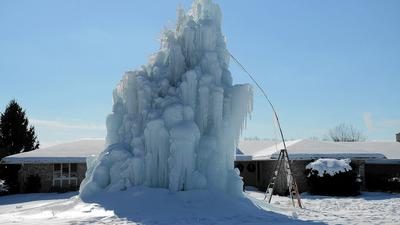 Colossal 'ice tree' rooted in civic rebellion