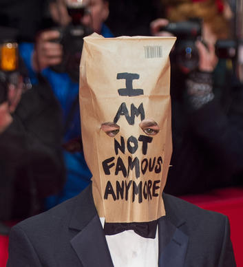 "Shia LaBeouf wore a paper bag to the screening of ""Nymphomaniac: Volume I"" during the 64th Berlin film festival."