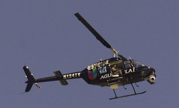 A news helicopter