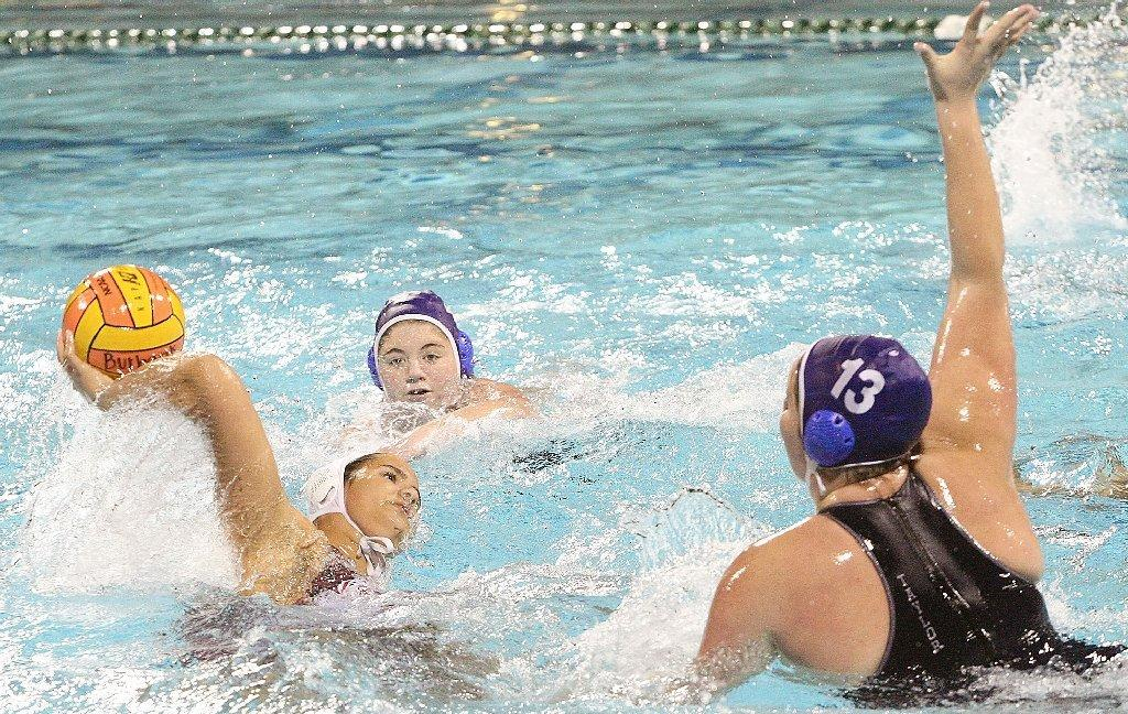 Crescenta Valley High's girls' water polo team swam past Burroughs on Tuesday.