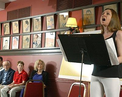 Donna Murphy sings at a rehearsal for a three-day theater marathon.