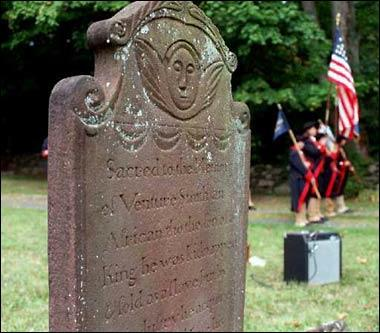 Venture Smith's grave at the First Church Cemetery in East Haddam was named a site on the state's Freedom Trail in 1997.