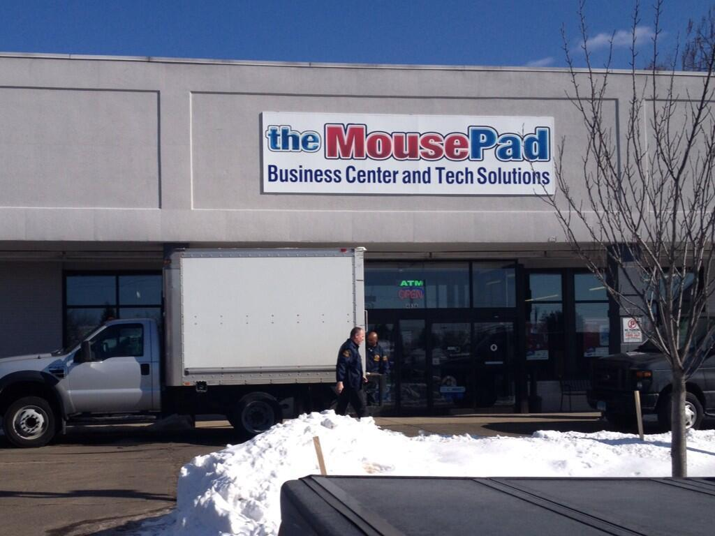Authorities raided The Mouse Pad in Enfield Tuesday.