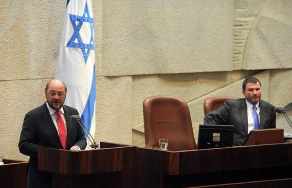 European Parliament President Martin Schulz at the Israeli Knesset