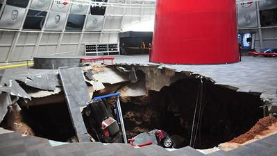 Sinkhole swallows priceless Corvettes