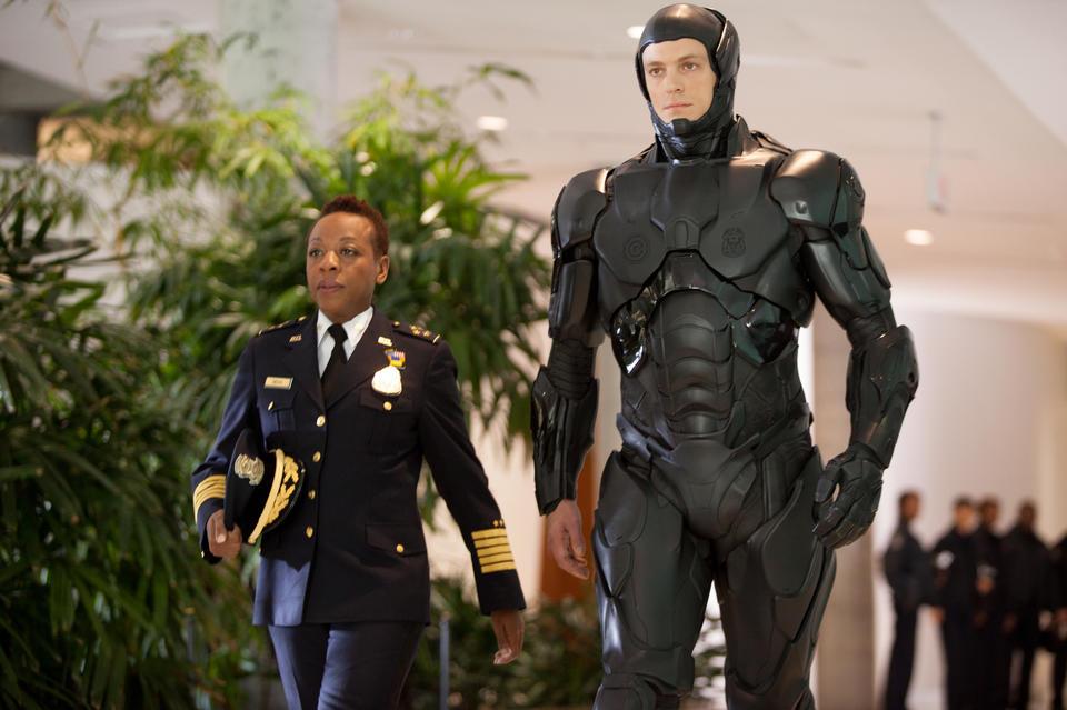 """Joel Kinnaman (left) stars in """"RoboCop,"""""""