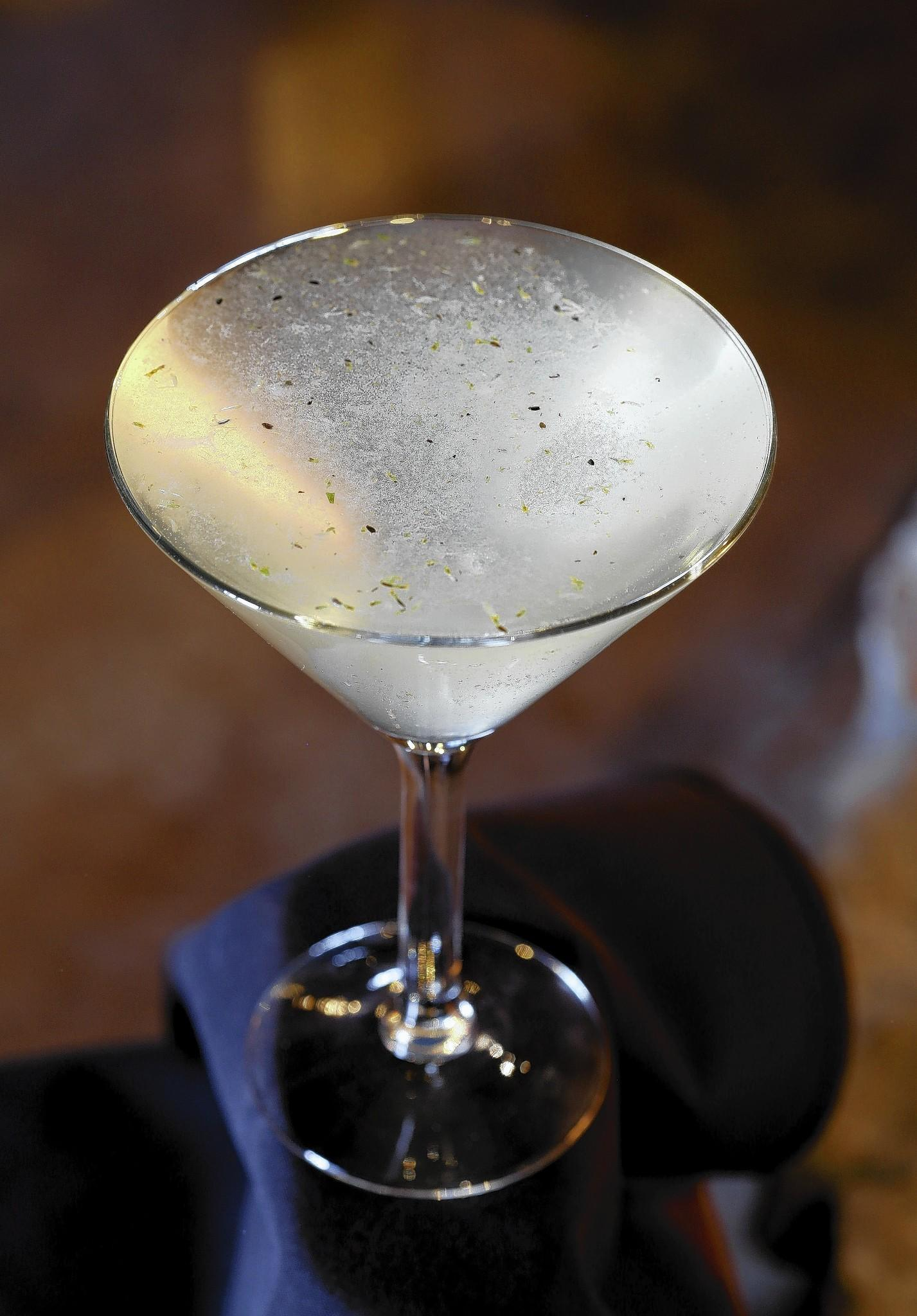 The Comfortably Numb martini, at The Turf Room.