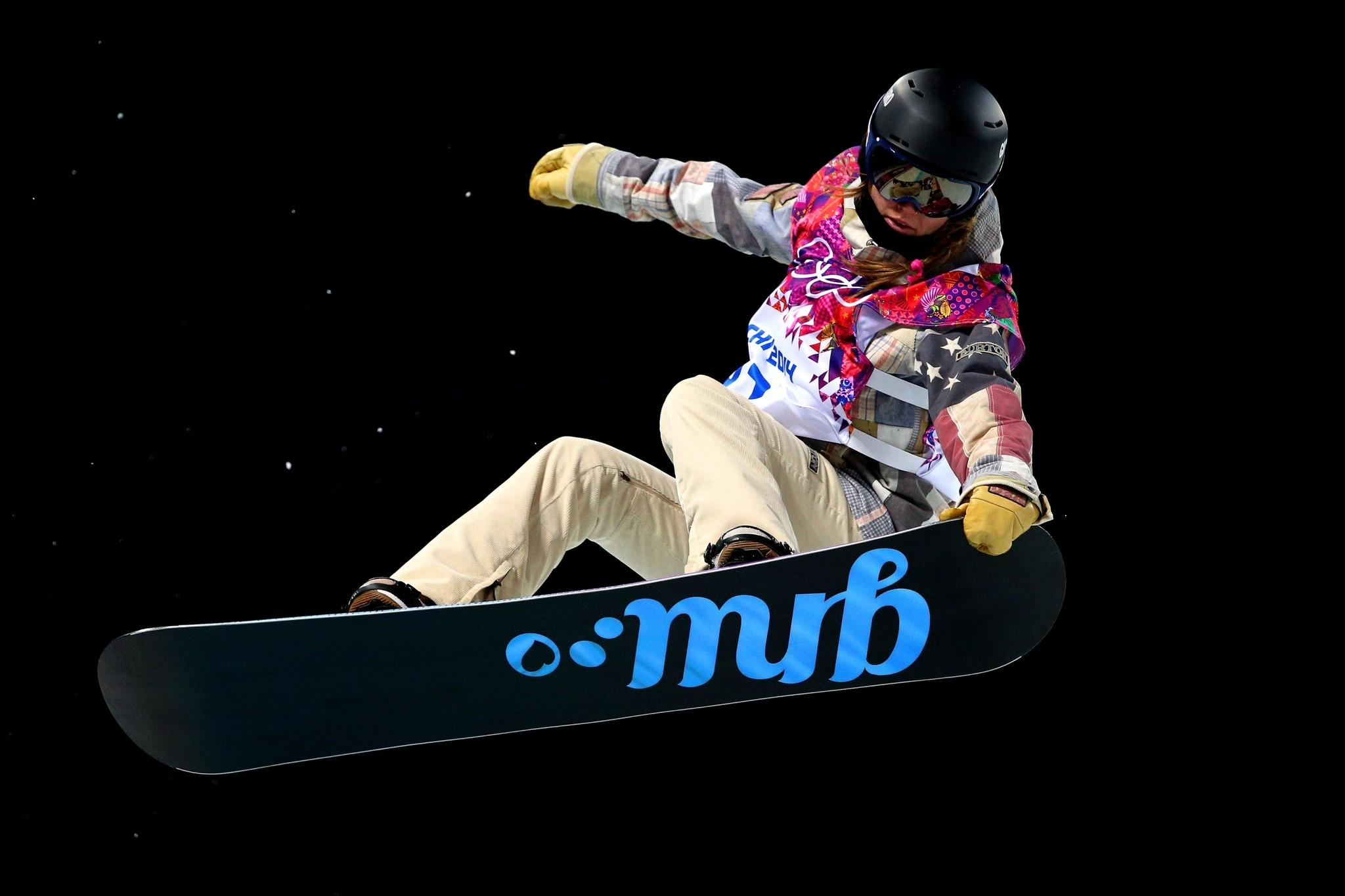 Kaitlyn Farrington of the United States competes in the Snowboard Women's Halfpipe.