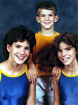 Michael Phelps and his sisters