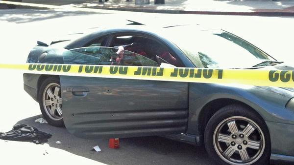 Car in shooting near USC campus